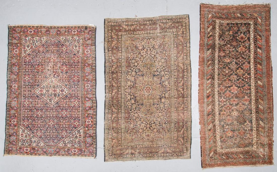 3 Antique Persian Lavar Kerman, Mahal and Kurd Rugs - 4