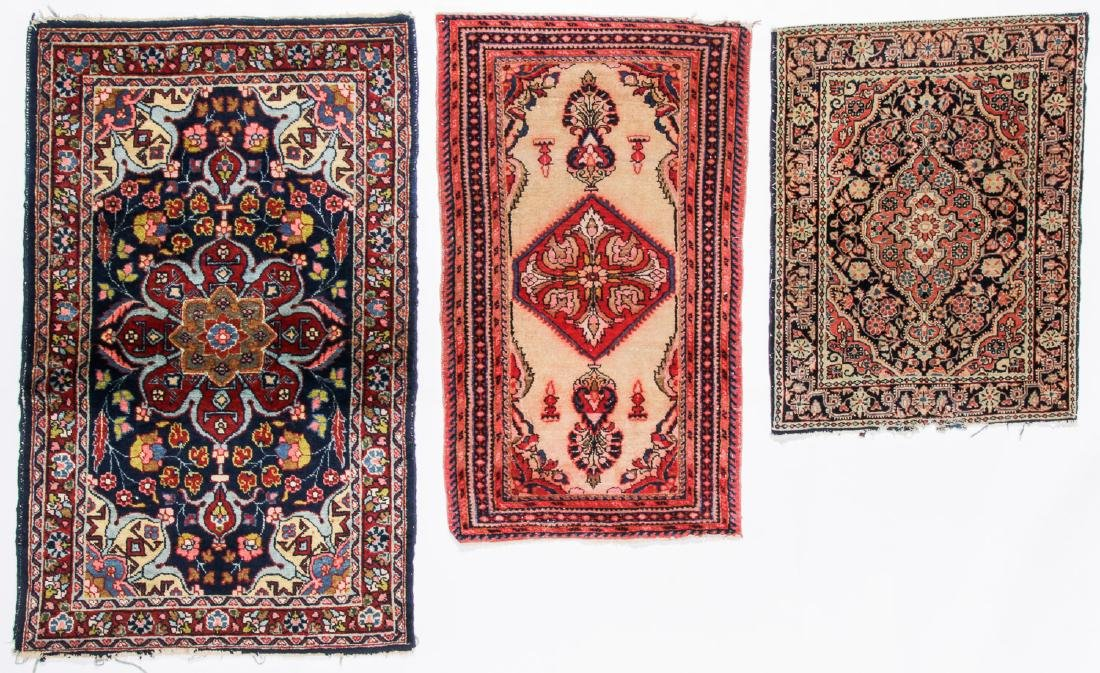 3 Antique Persian Small Rugs