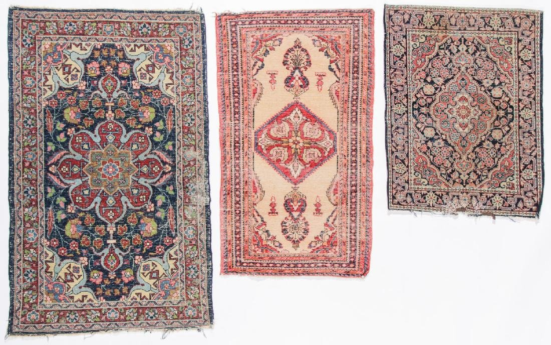 3 Antique Persian Small Rugs - 5