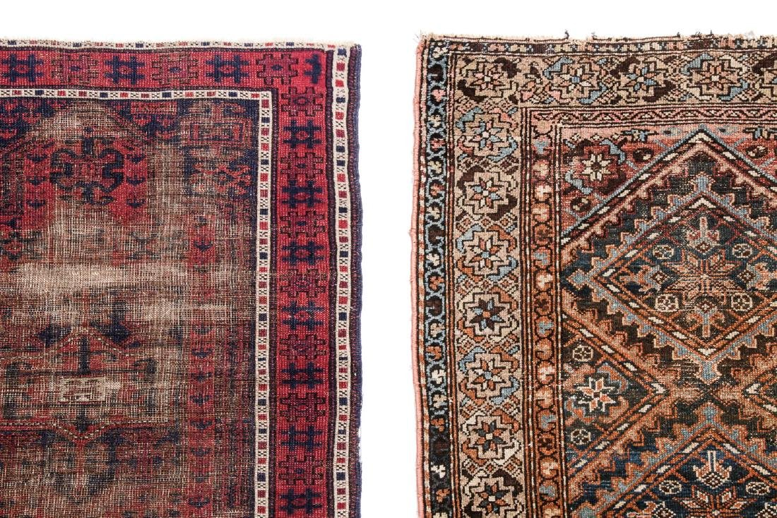 2 Antique Hamadan and Beluch Rugs - 2