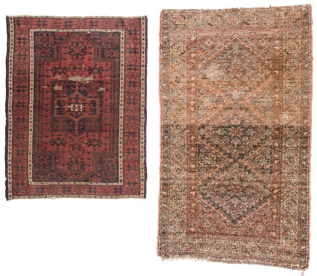 2 Antique Hamadan and Beluch Rugs - 3