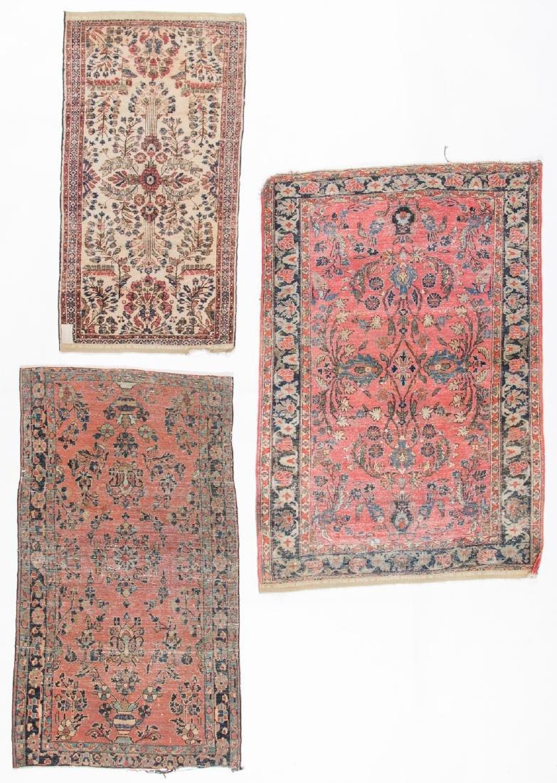 3 Antique Persian Sarouk Rugs - 5