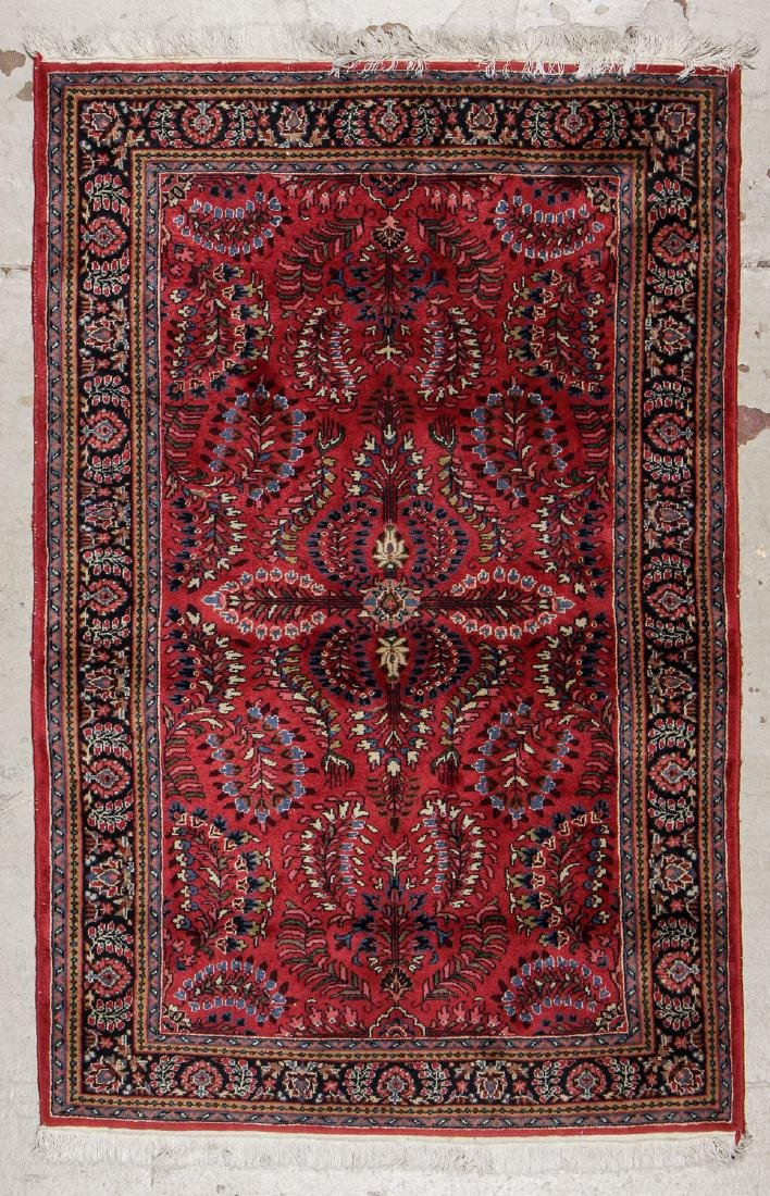 Vintage Sarouk Style Rug: 3'11'' x 6'