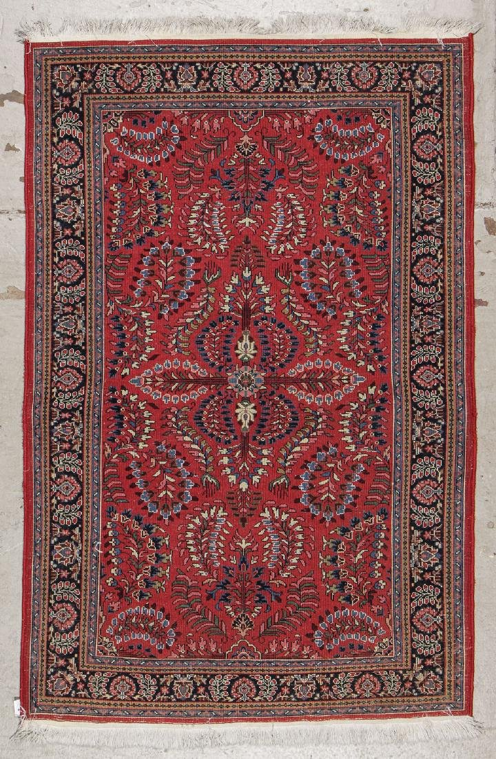 Vintage Sarouk Style Rug: 3'11'' x 6' - 6
