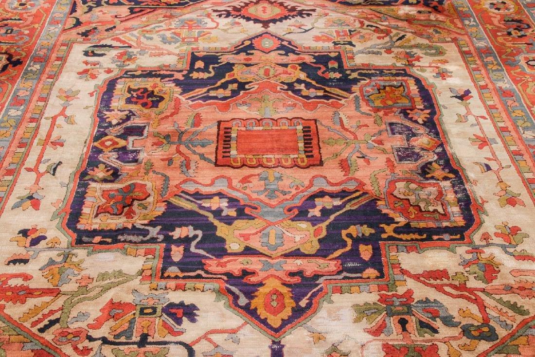 Antique Serapi Style Hooked Rug: 8'1'' x 11'1'' - 6