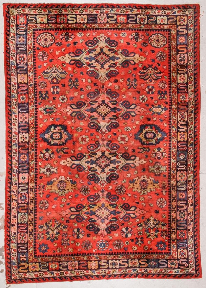 Antique Sumak Style Hooked Rug: 8'1'' x 11'5''