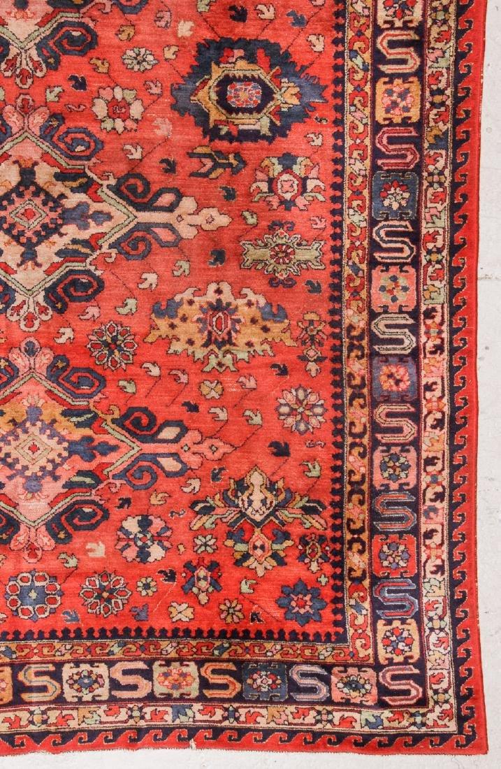 Antique Sumak Style Hooked Rug: 8'1'' x 11'5'' - 3