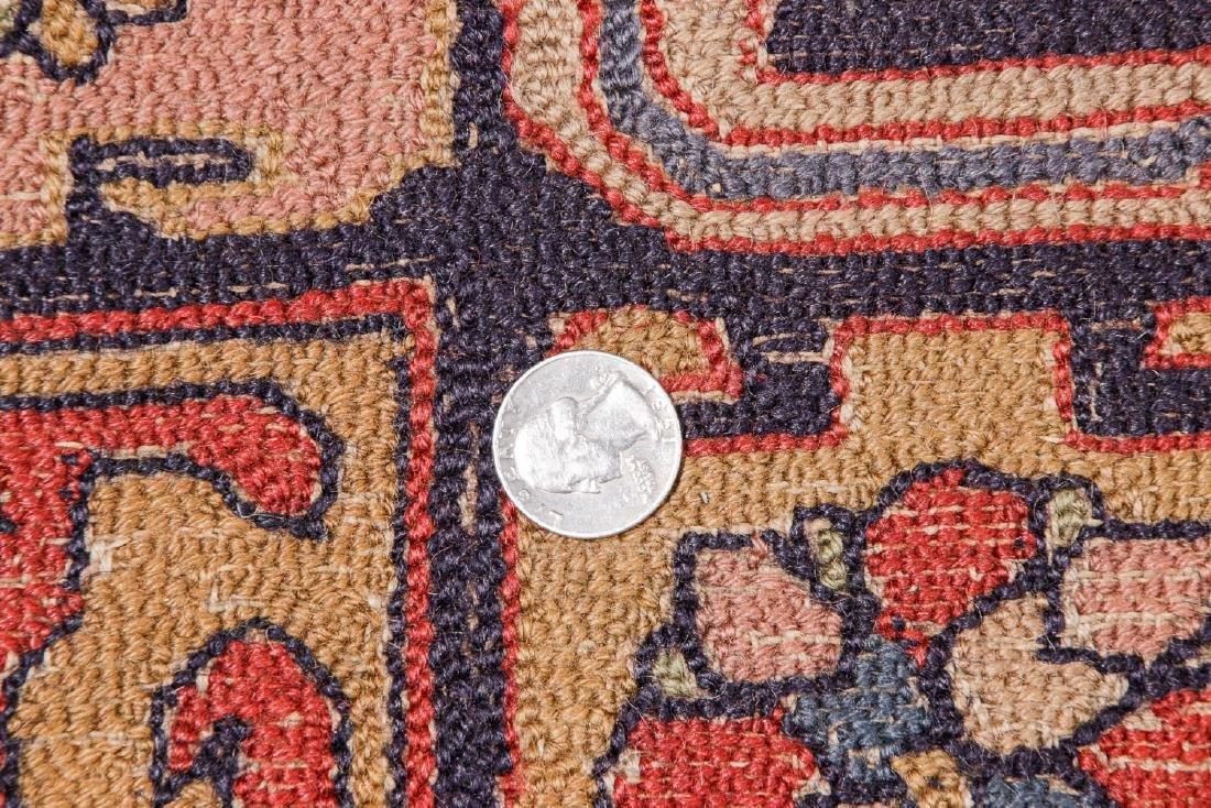 Antique Sumak Style Hooked Rug: 8'1'' x 11'5'' - 5