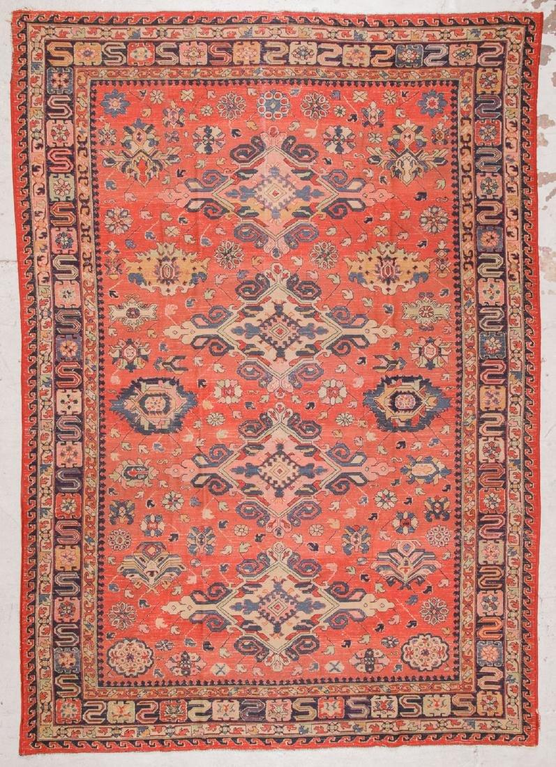 Antique Sumak Style Hooked Rug: 8'1'' x 11'5'' - 7