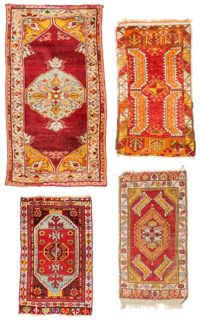 Estate Collection of 4 Antique Turkish Rugs