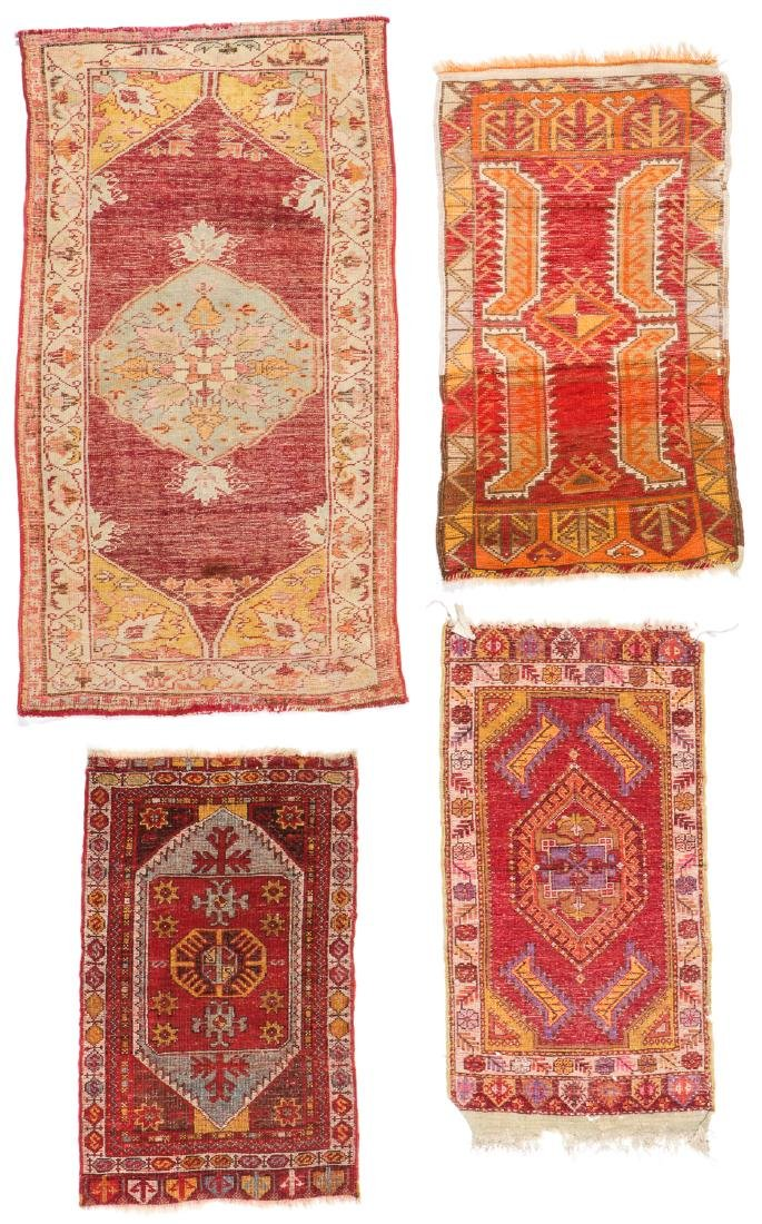 Estate Collection of 4 Antique Turkish Rugs - 7