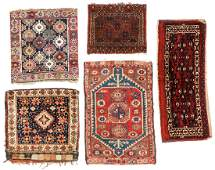 Estate Collection of 5 Antique Small Rugs