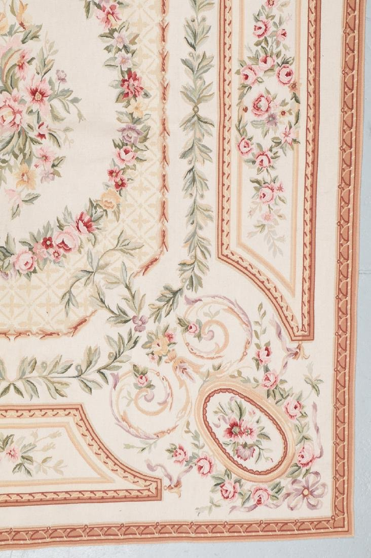 Aubusson Wool Tapestry Carpet: 119'' x 95'' - 2