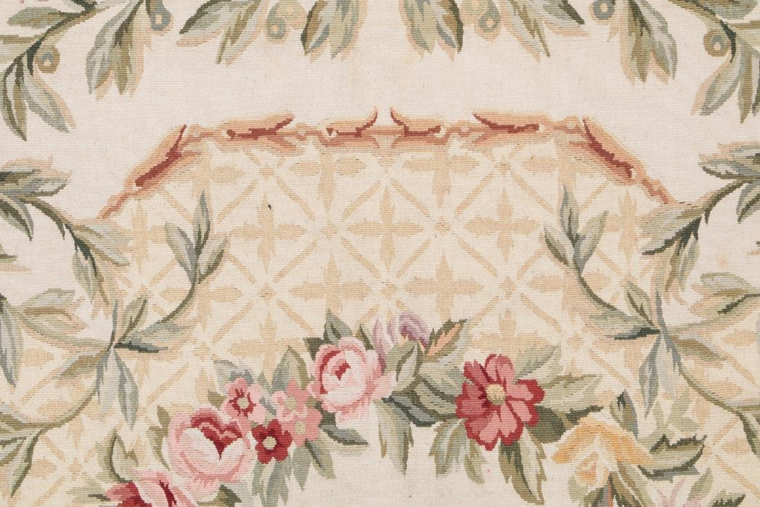 Aubusson Wool Tapestry Carpet: 119'' x 95'' - 3