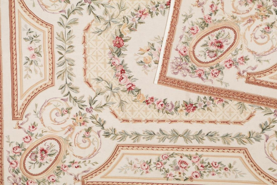 Aubusson Wool Tapestry Carpet: 119'' x 95'' - 4