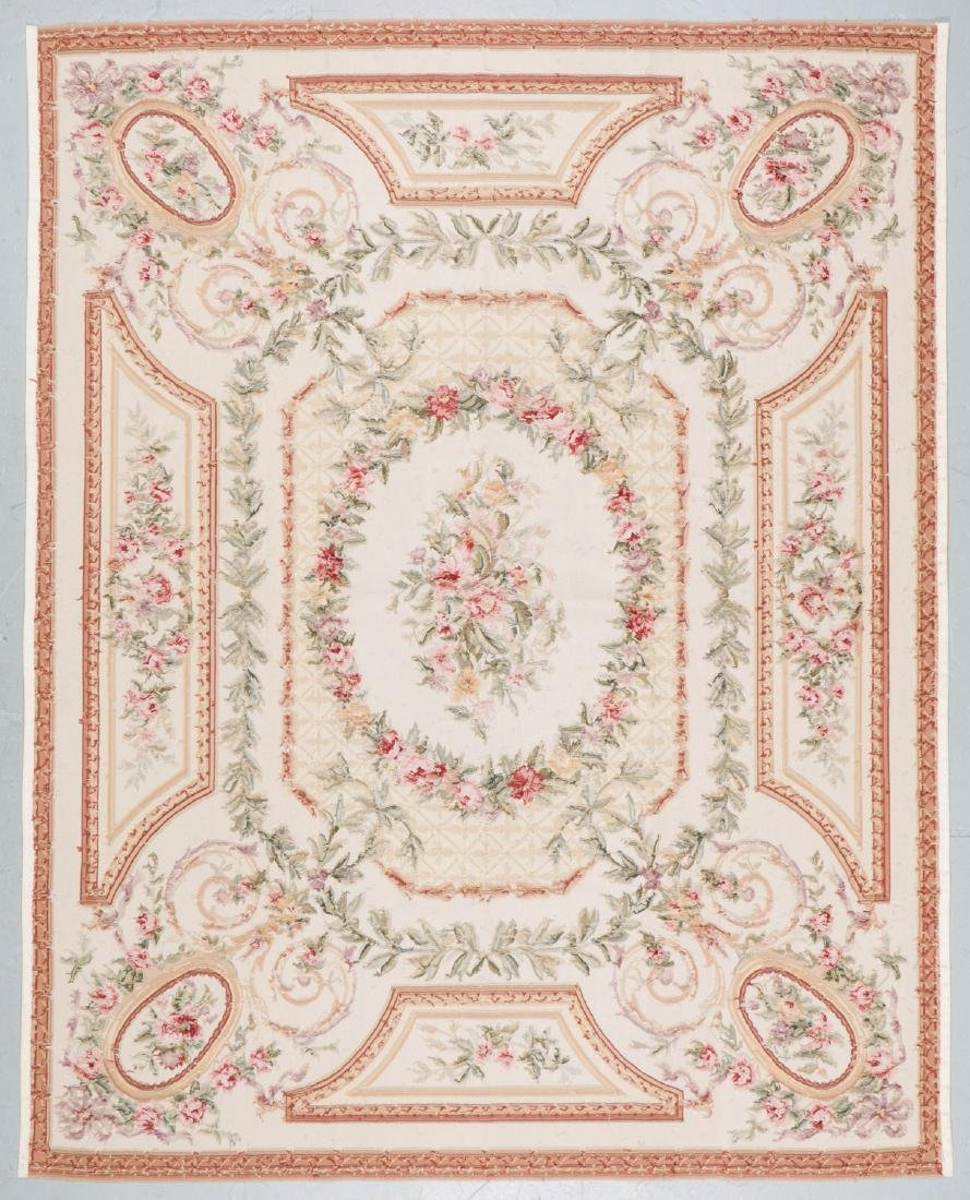 Aubusson Wool Tapestry Carpet: 119'' x 95'' - 7