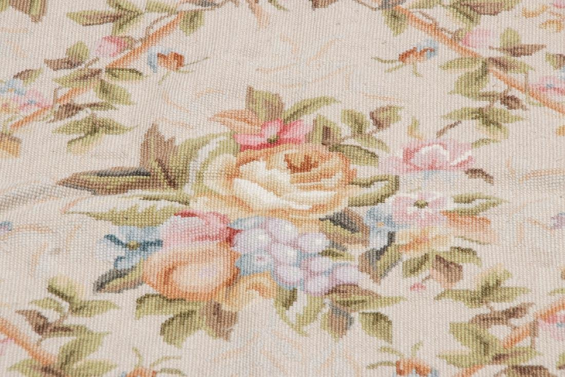 Vintage Continental Style Needlepoint Rug: 5'10'' x - 4