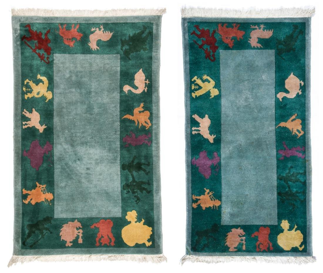 2 Vintage Chinese Rugs