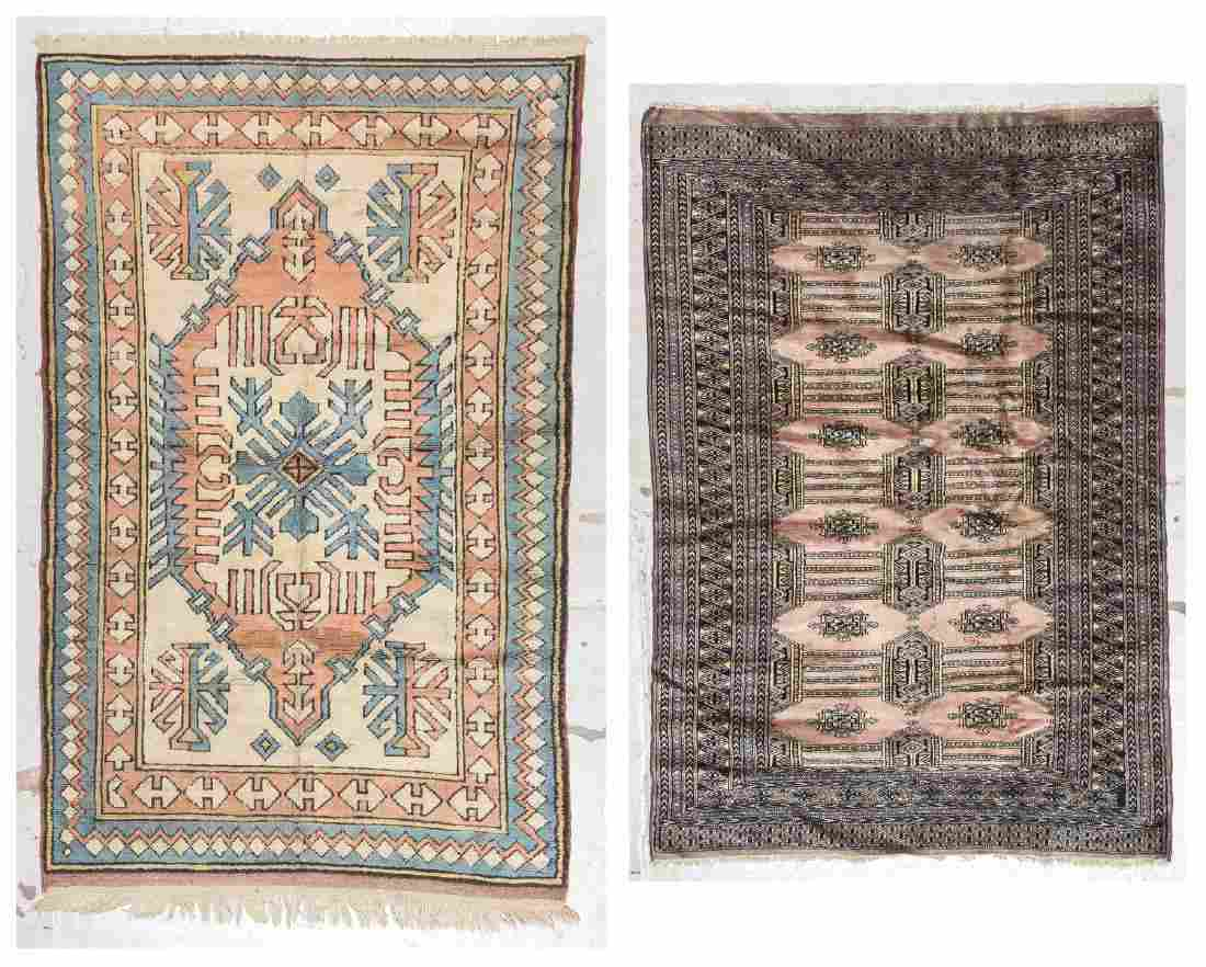 2 Vintage Turkish and Bokhara Rugs