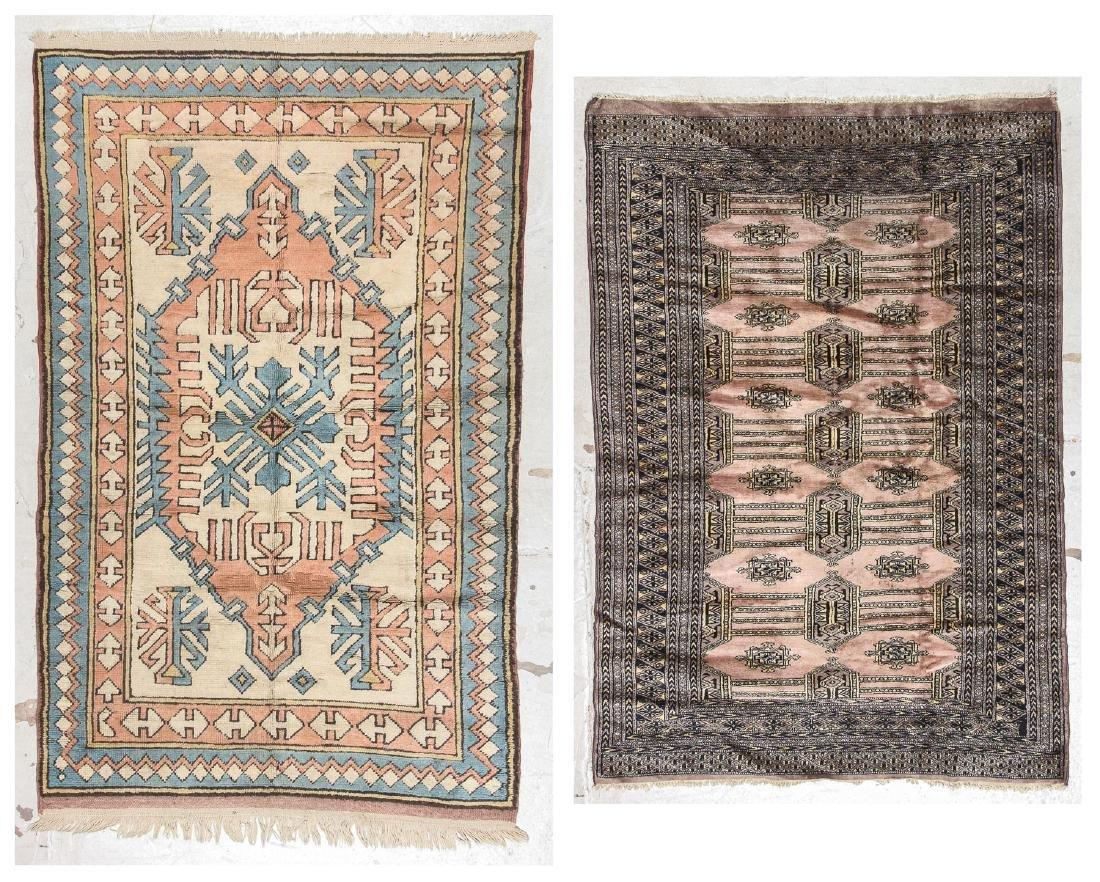 2 Vintage Turkish and Bokhara Rugs