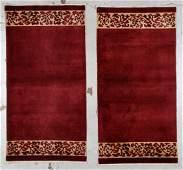 Pair of Chinese Art Deco Rugs: 3' x 5'11''