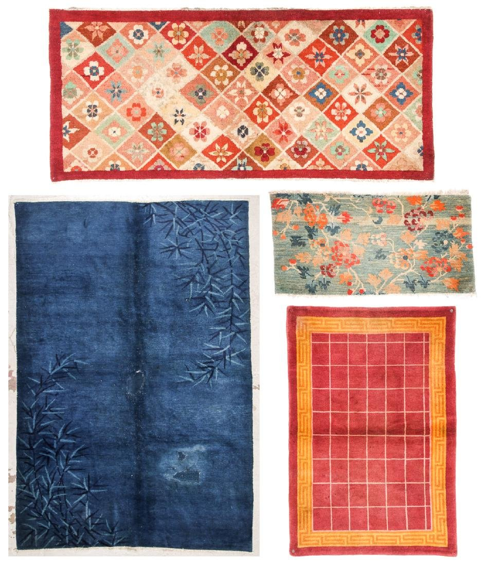 Estate Grouping of 4 Antique Chinese/Tibetan Rugs