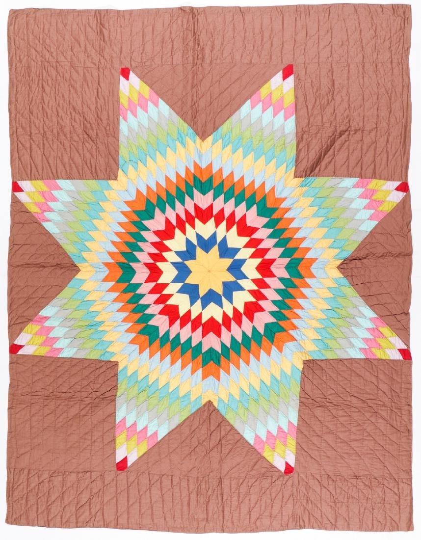 Large Vintage Star of Bethlehem Quilt. Size: 88'' x