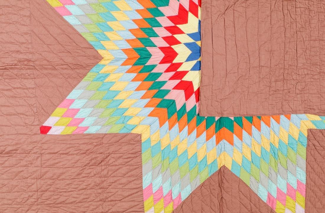 Large Vintage Star of Bethlehem Quilt. Size: 88'' x - 3