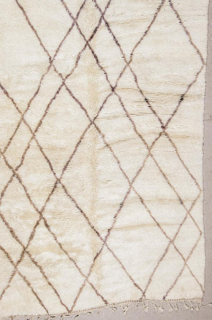 Modern Beni Ourain Rug: 9'7'' x 11'10'' - 3