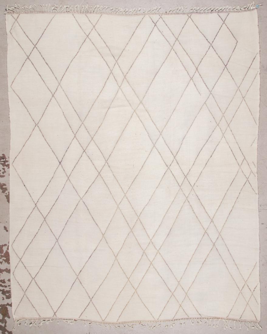 Modern Beni Ourain Rug: 9'7'' x 11'10'' - 7