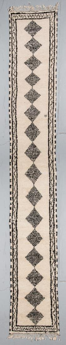 Modern Beni Ourain Rug: 2'8'' x 16'