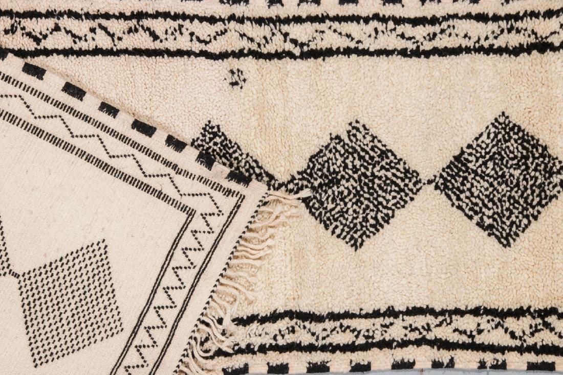 Modern Beni Ourain Rug: 2'8'' x 16' - 4