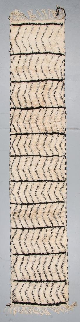 Modern Beni Ourain Rug, Morocco: 2'7'' x 13'2''