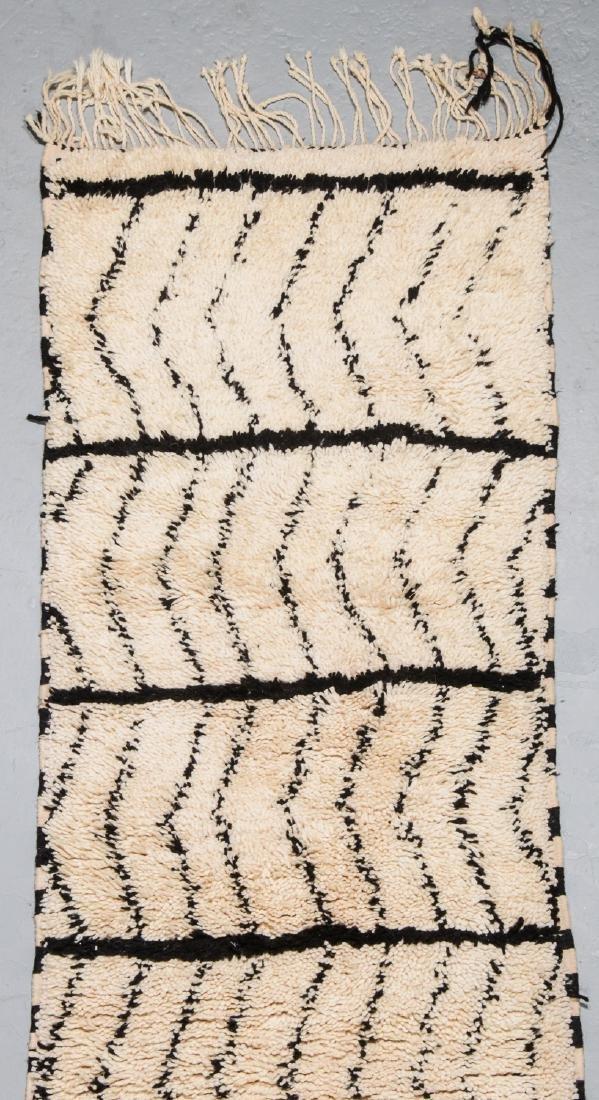 Modern Beni Ourain Rug, Morocco: 2'7'' x 13'2'' - 2