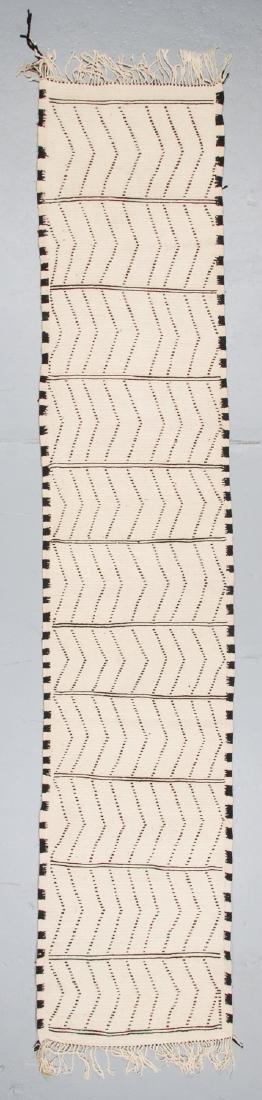 Modern Beni Ourain Rug, Morocco: 2'7'' x 13'2'' - 7