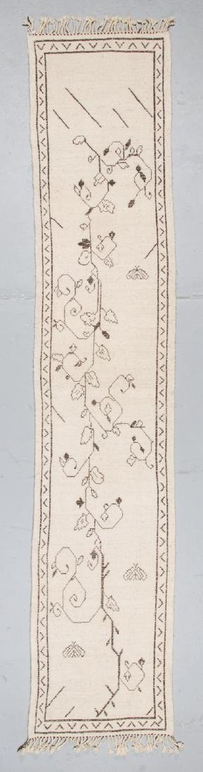 Modern Beni Ourain Rug, Morocco: 2'4'' x 11'9'' - 7