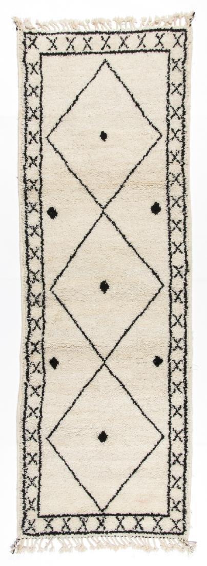Modern Beni Ourain Rug, Morocco: 2'8'' x 7'9''