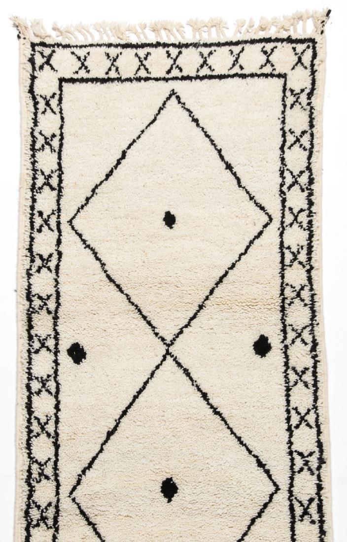 Modern Beni Ourain Rug, Morocco: 2'8'' x 7'9'' - 2
