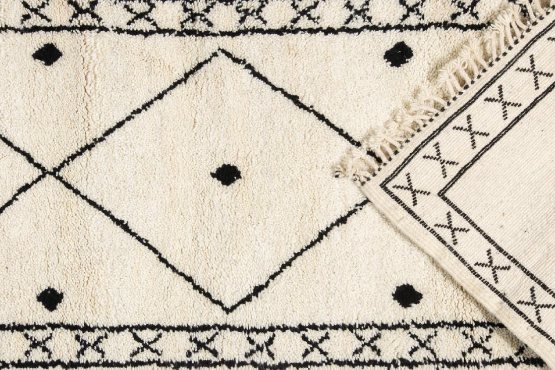 Modern Beni Ourain Rug, Morocco: 2'8'' x 7'9'' - 4