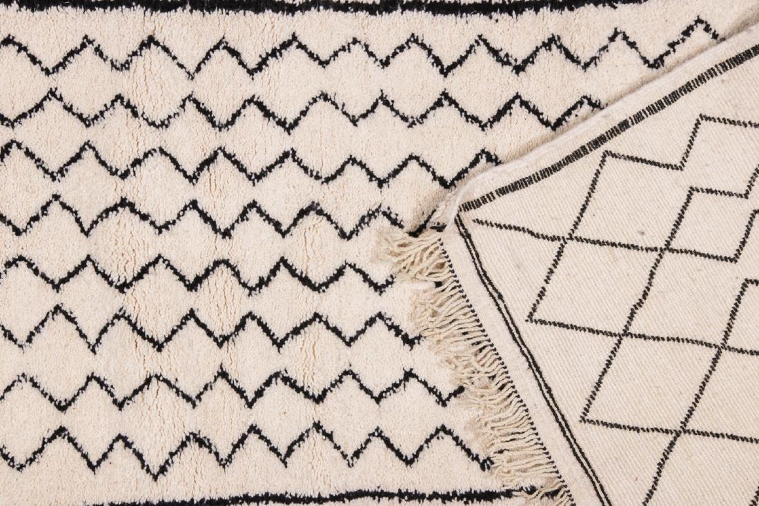 Modern Beni Ourain Rug, Morocco: 2'11'' x 9'10'' - 4