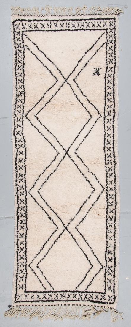 Modern Beni Ourain Rug, Morocco: 3'2'' x 8'6''