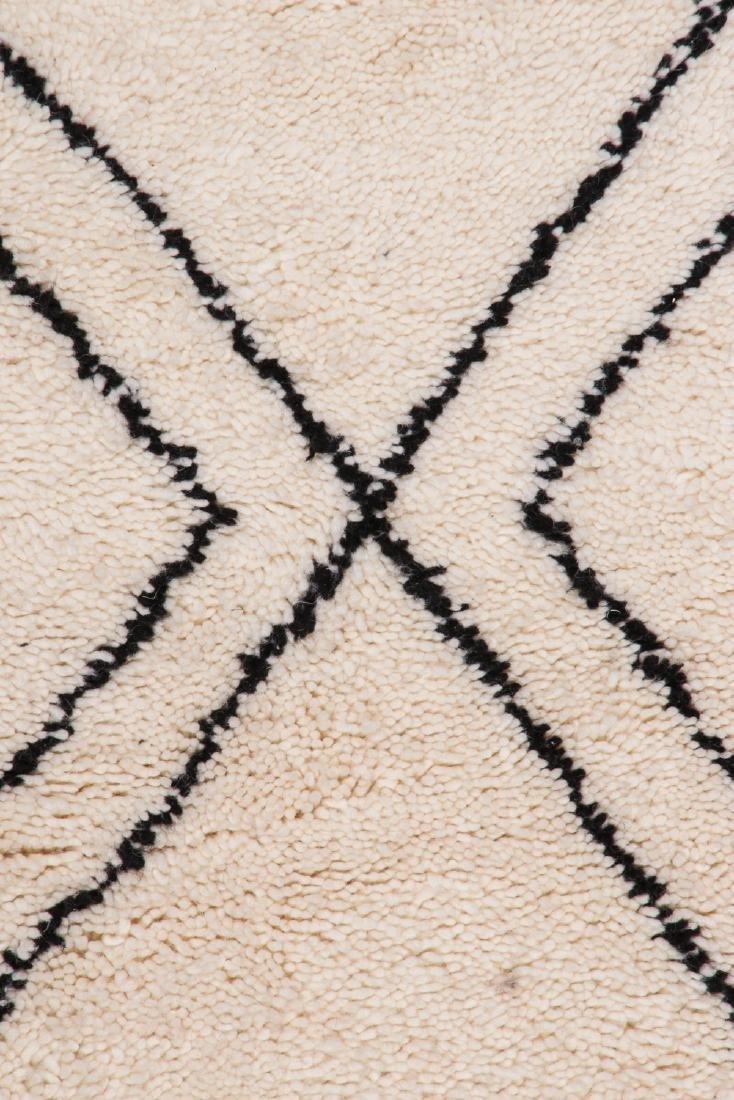 Modern Beni Ourain Rug, Morocco: 3'2'' x 8'6'' - 3