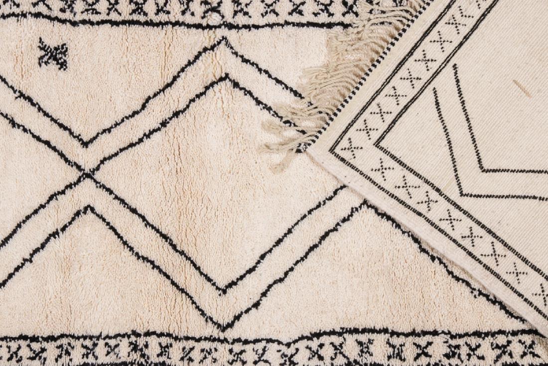 Modern Beni Ourain Rug, Morocco: 3'2'' x 8'6'' - 4