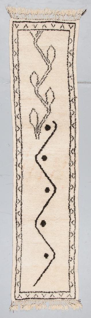 Modern Beni Ourain Rug, Morocco: 2''' x 8'3''