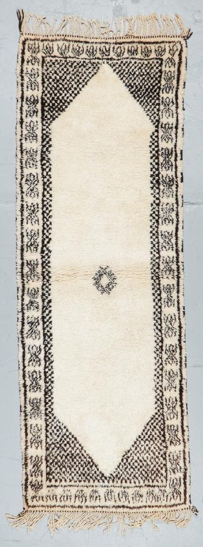 Modern Beni Ourain Rug, Morocco: 8'4'' x 2'11''