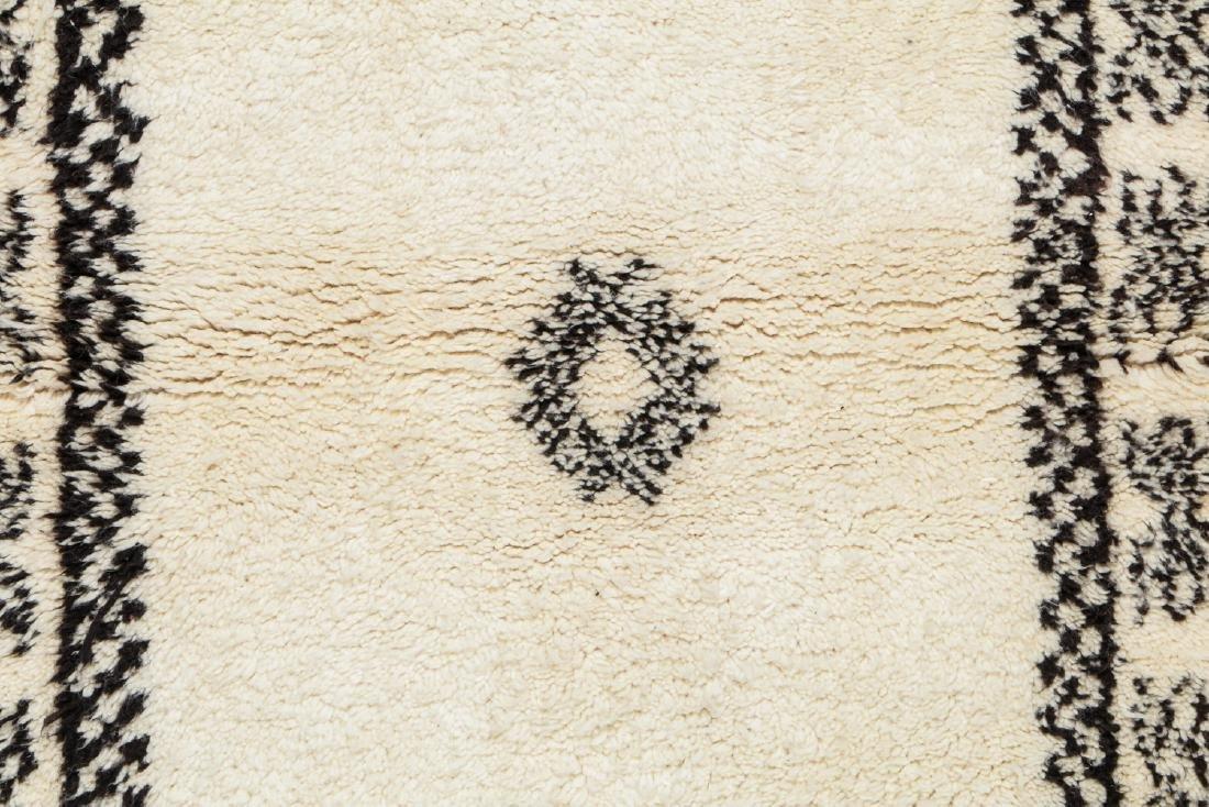 Modern Beni Ourain Rug, Morocco: 8'4'' x 2'11'' - 3