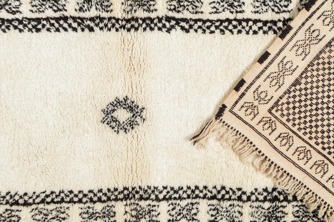 Modern Beni Ourain Rug, Morocco: 8'4'' x 2'11'' - 4