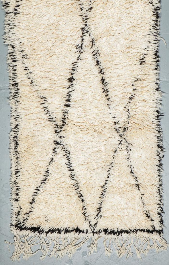 Modern Beni Ourain Rug, Morocco: 3'2'' x 10'4'' - 2