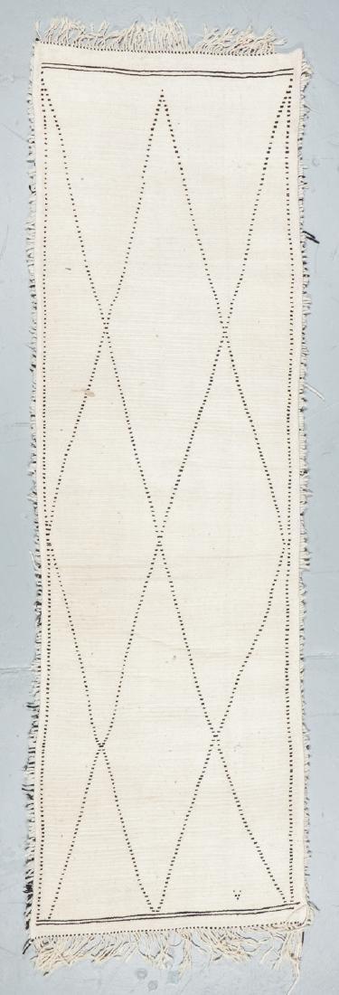 Modern Beni Ourain Rug, Morocco: 3'2'' x 10'4'' - 7