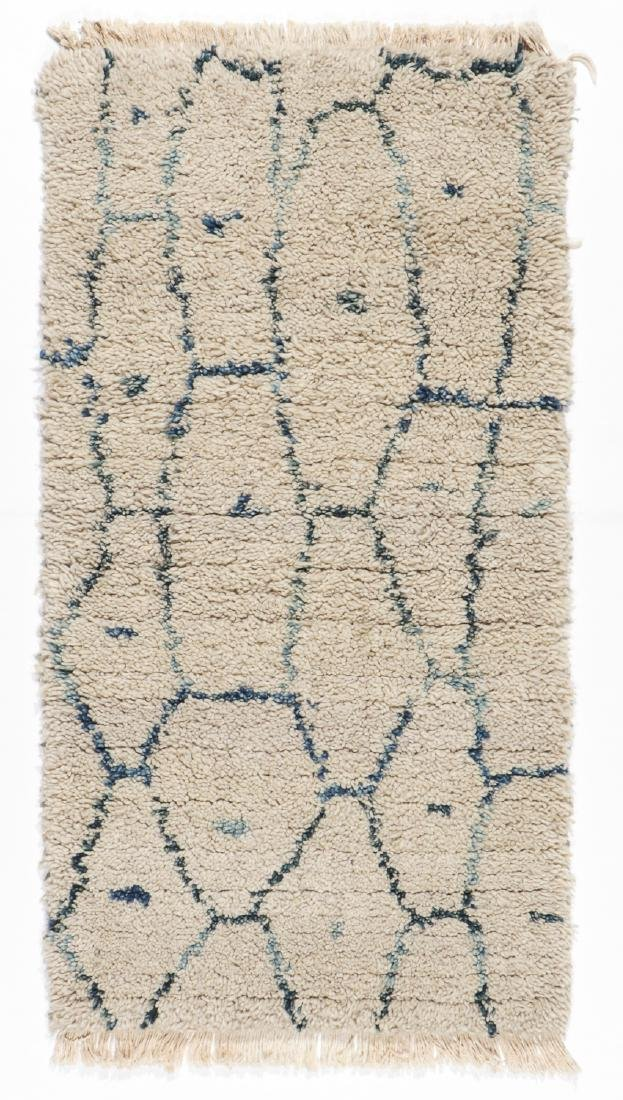 Modern Beni Ourain Rug, Morocco: 2'3'' x 3'11''